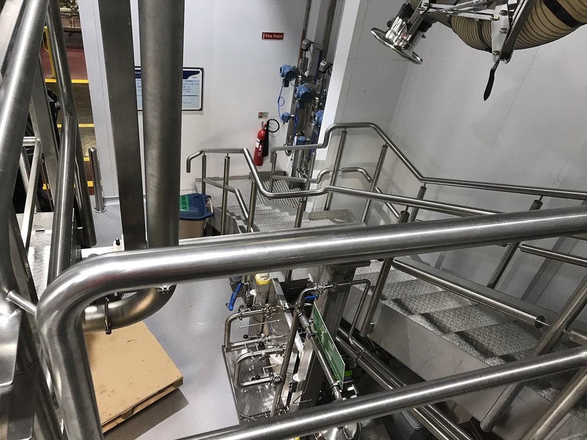 Access Platforms - SX Engineering - 1 process room stairs platform