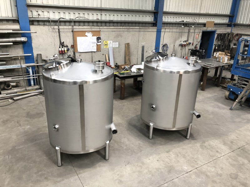 Stainless Steel Specialists - SX Engineering - 2 x whey balance tanks