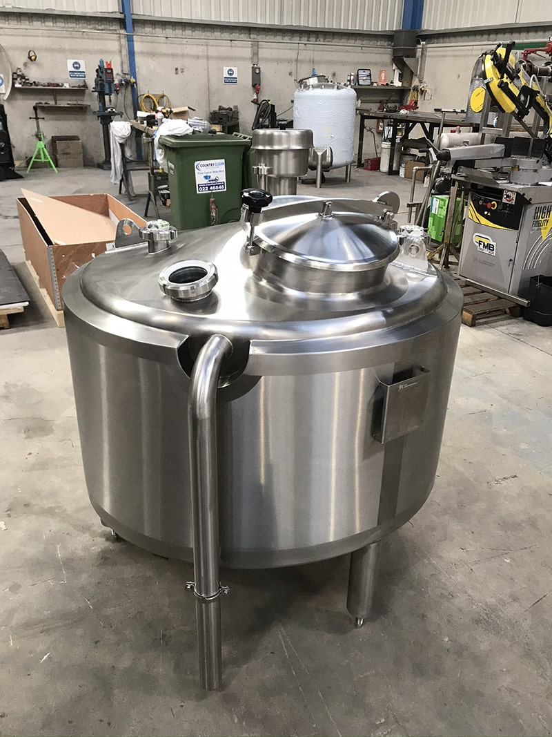 Small Vessels - SX Engineering - CIP Solutions tank