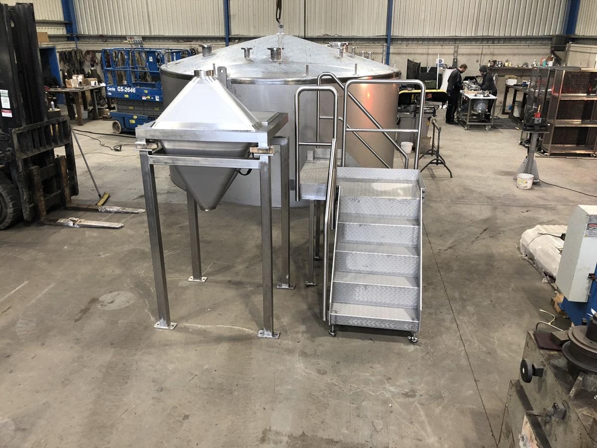 Bespoke Fabrications - SX Engineering - Lough Egish powder transport hopper _ platform