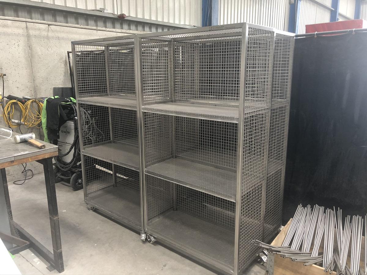 Bespoke Fabrications - SX Engineering - MSD storage trolleys