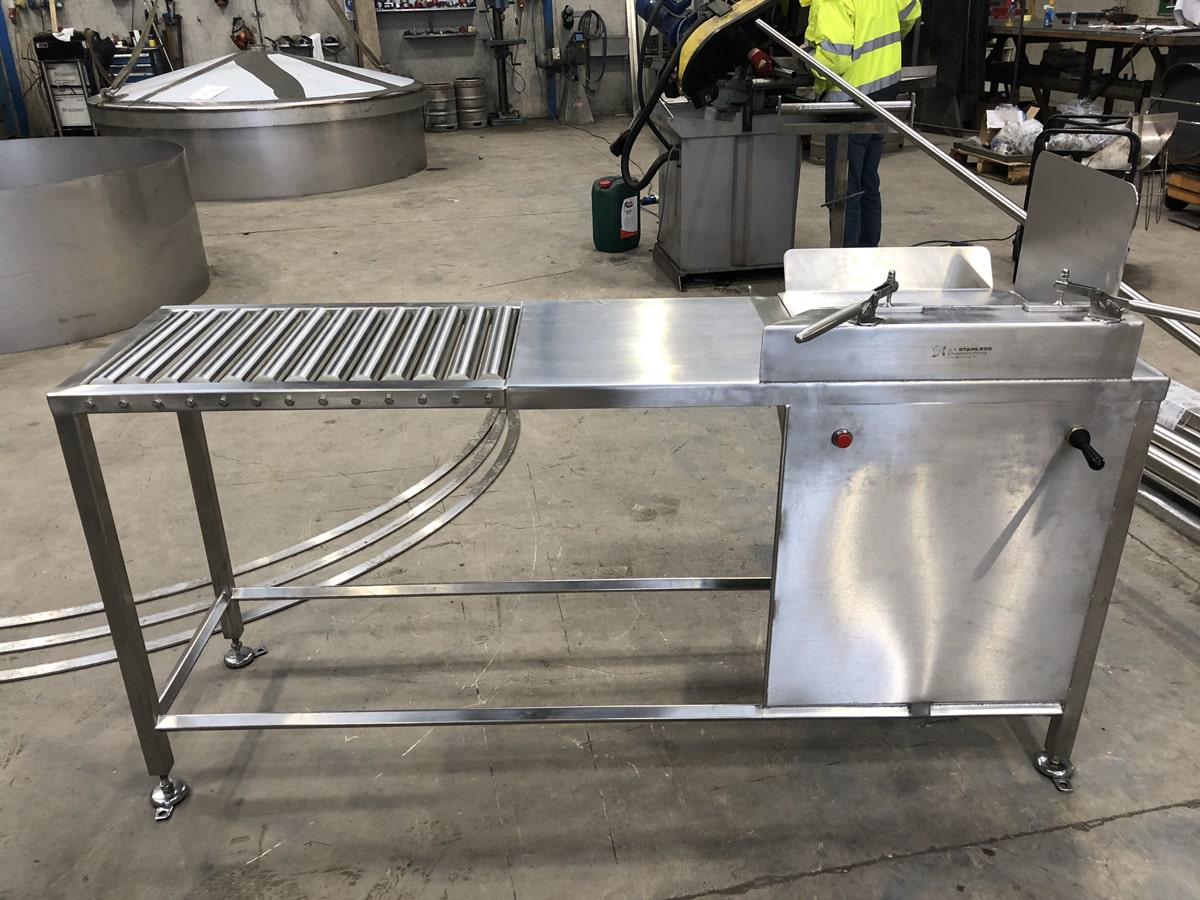 Bespoke Fabrications - SX Engineering - Ornua butter handling table