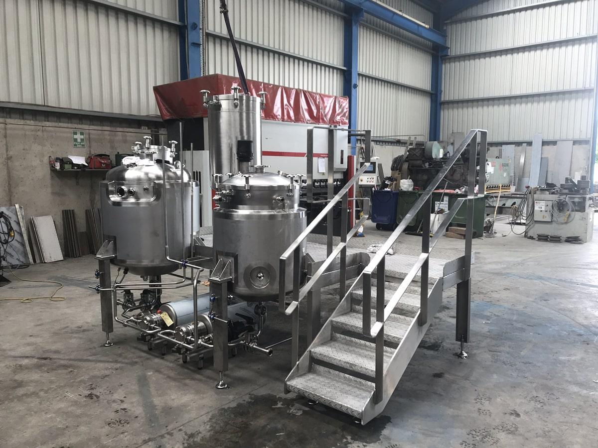 Bespoke Fabrications - SX Engineering - Pre mix skids