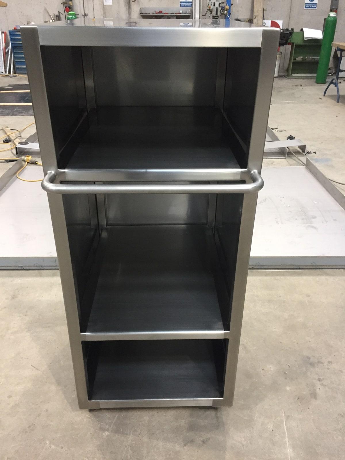 Bespoke Fabrications - SX Engineering - Cleanroom storage trolley