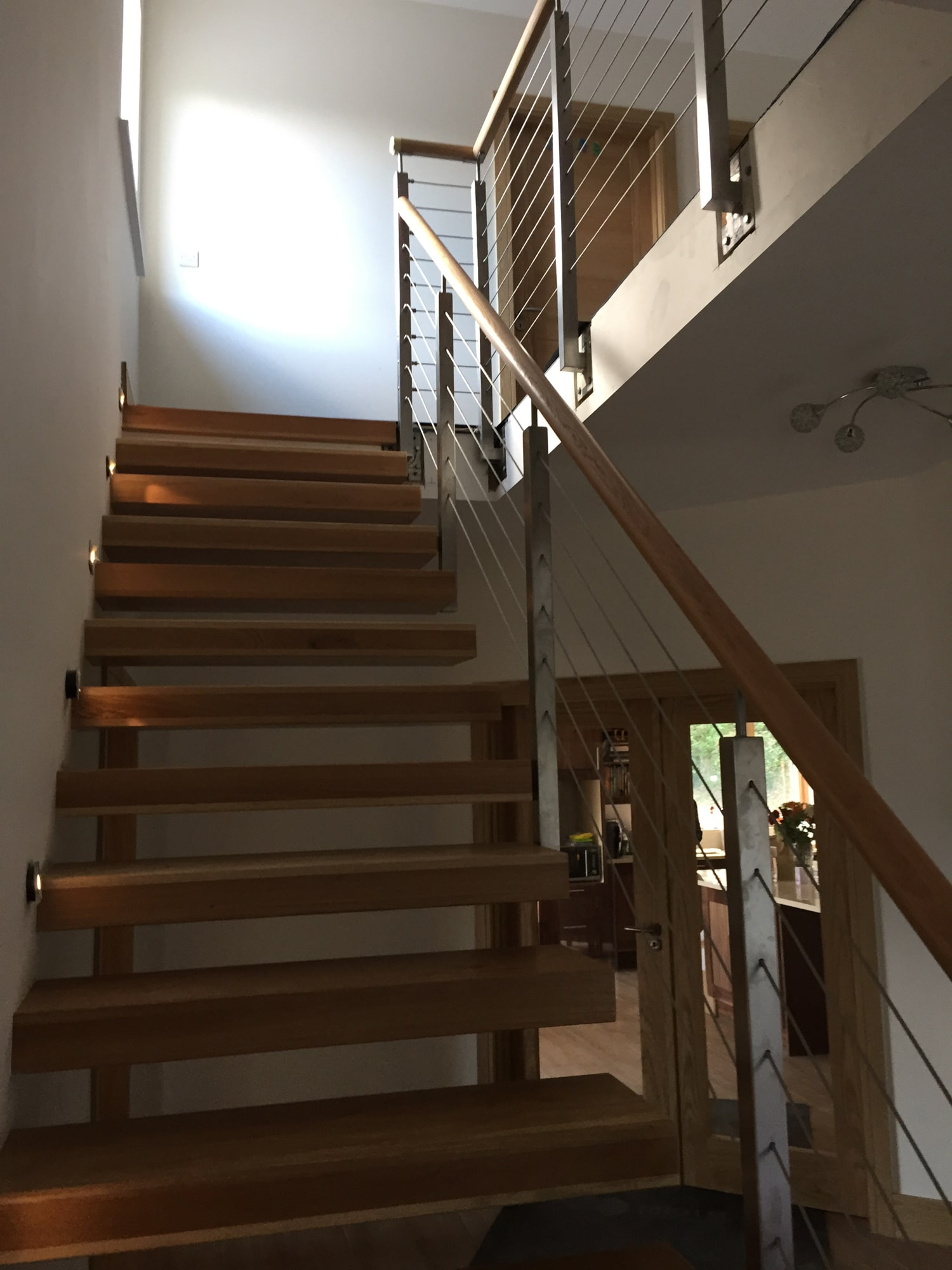 Architectural - SX Engineering - Floating stairs ss wire rope balustrade