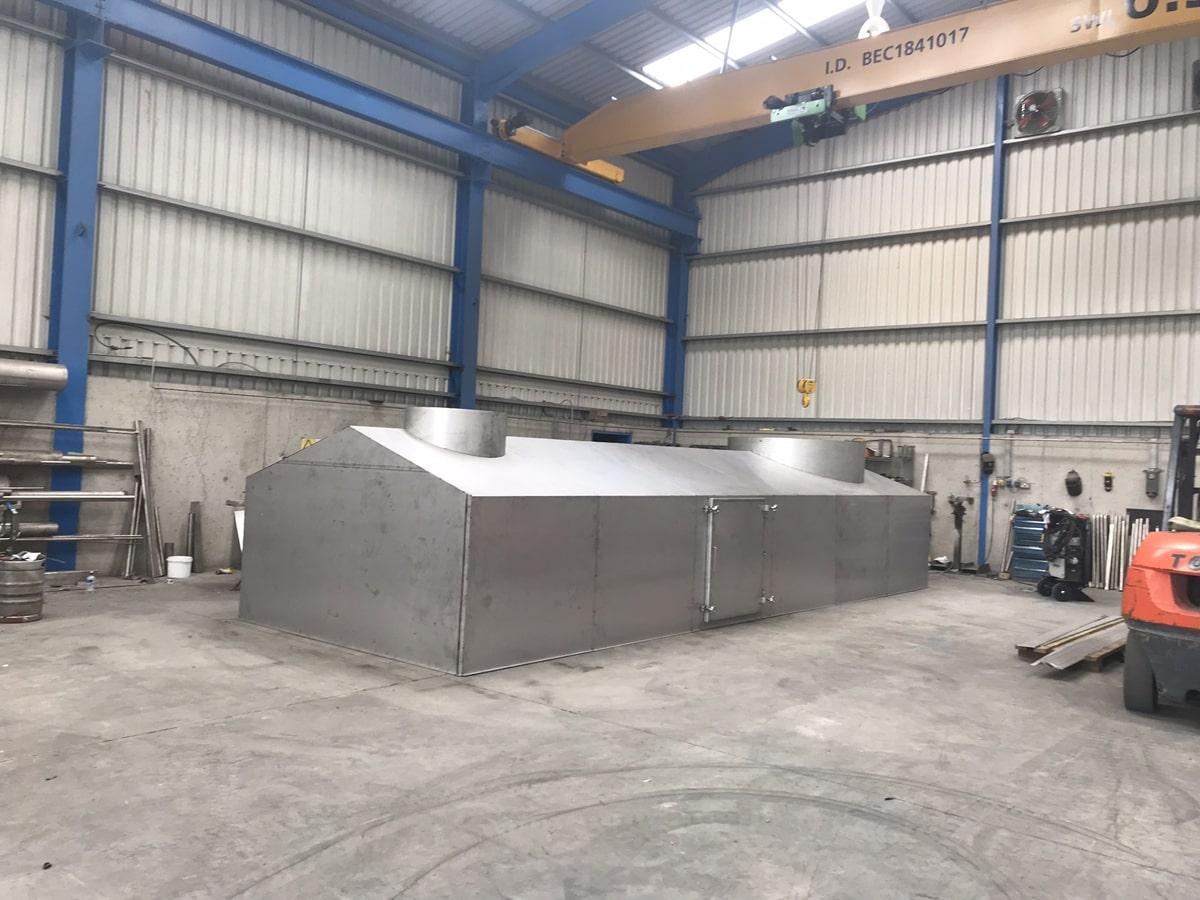 Bespoke Fabrications - SX Engineering - Gas heater separation hood