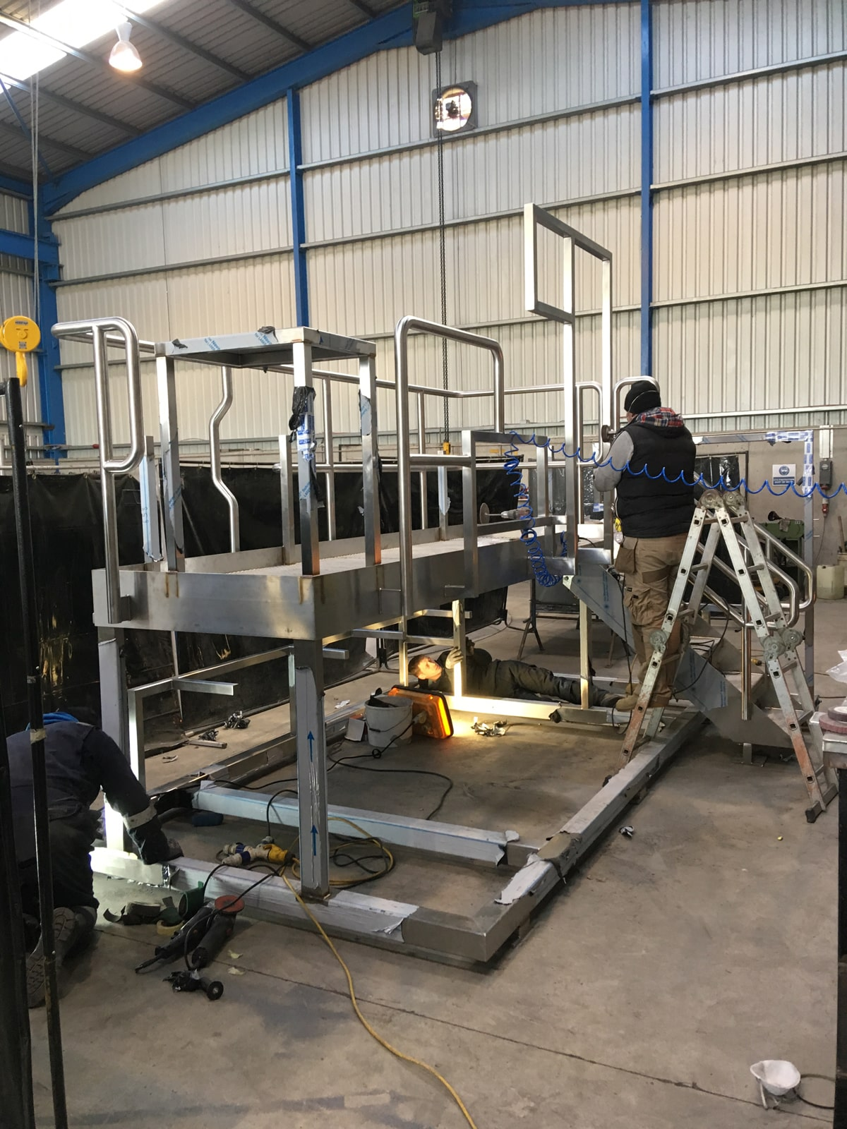 Access Platforms - SX Engineering - Pharma skid frame nearing completion
