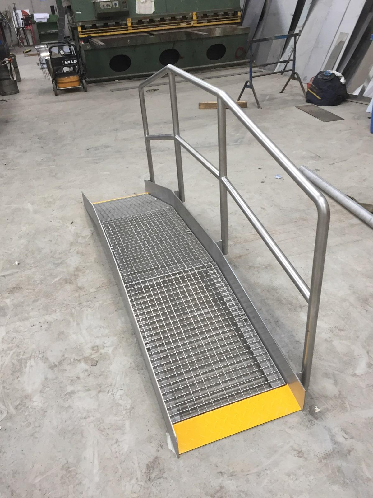Bespoke Fabrications - SX Engineering - Pipe ramp