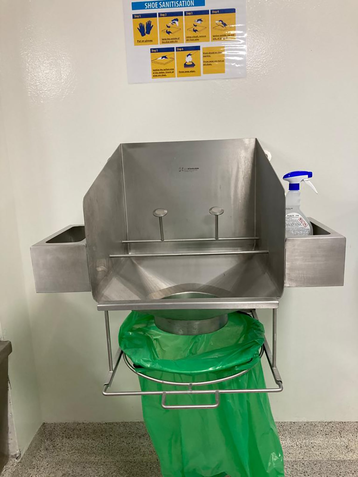 Bespoke Fabrications - SX Engineering - Shoe cleaning station