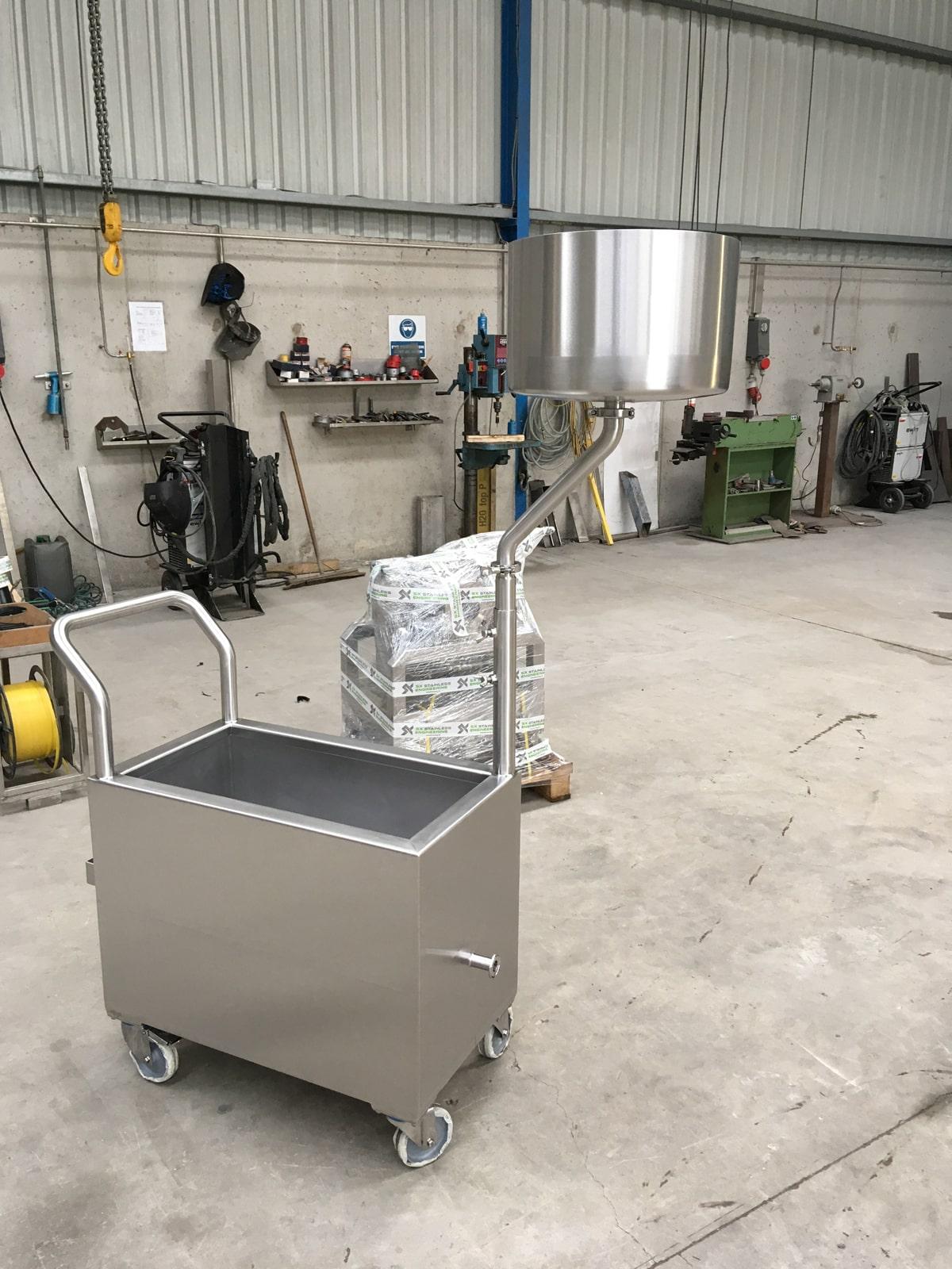 Bespoke Fabrications - SX Engineering - Shower test rig trolley