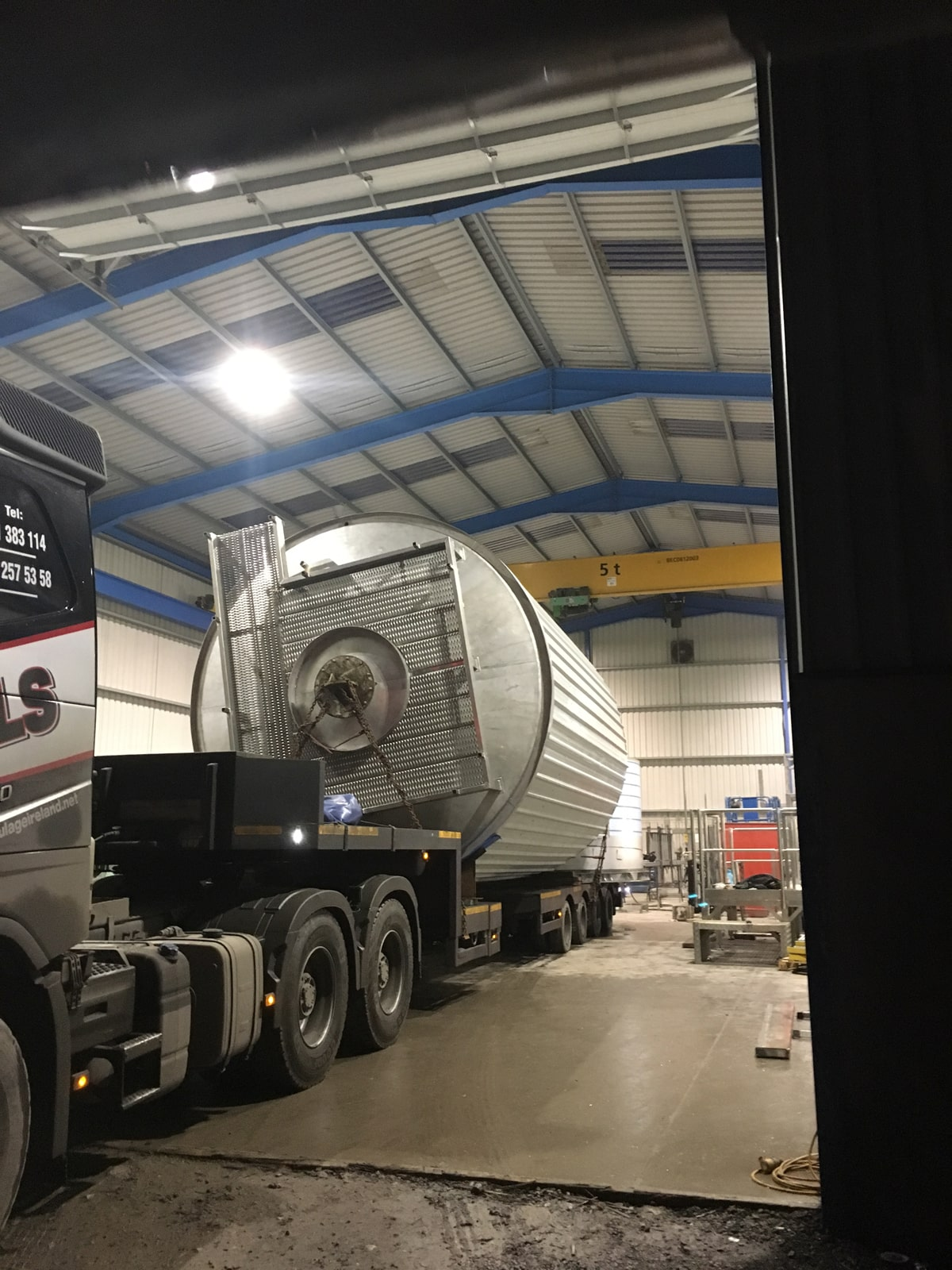 Large Vessels - SX Engineering - Virginia silo mid build