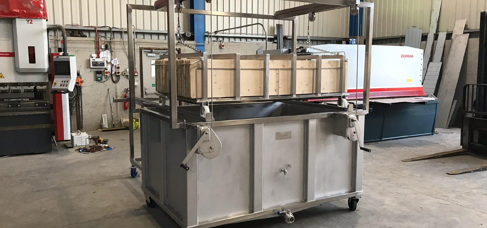 Bespoke Fabrications - SX Engineering - TINE cheese board washing tank