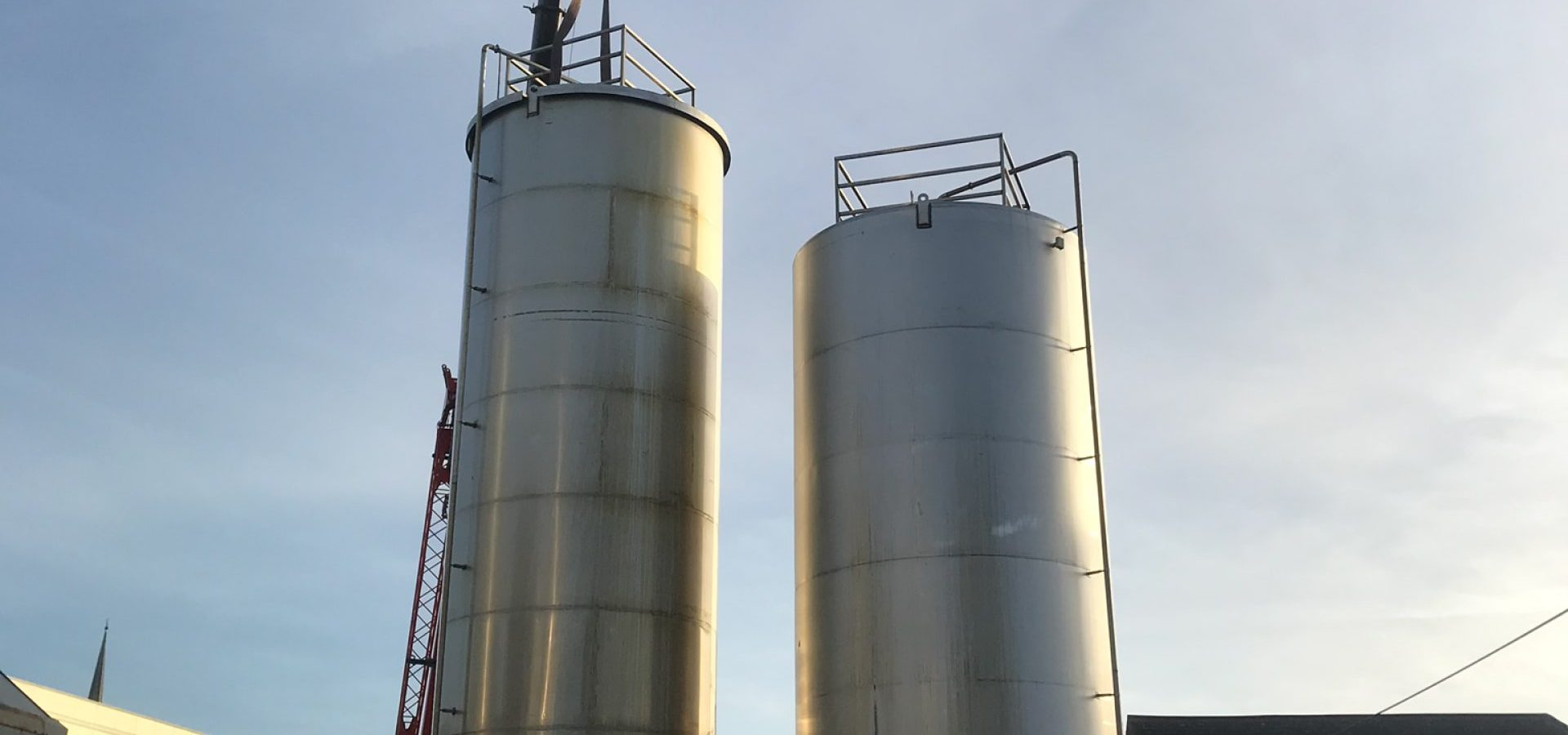 Vessel Refurbishment / Repairs - on site silo refurb with new base sections fitted